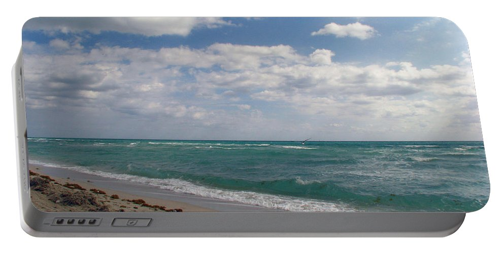 Miami Beach Portable Battery Charger featuring the photograph Miami Beach by Amanda Barcon