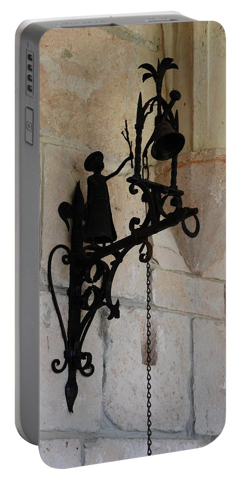 Architecture Portable Battery Charger featuring the photograph Miami Monastery Bell by Rob Hans