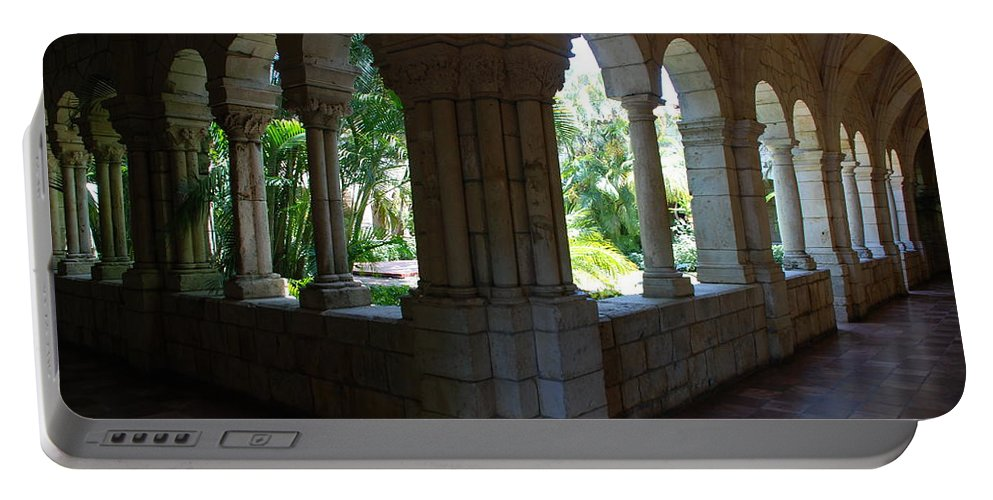 Architecture Portable Battery Charger featuring the photograph Miami Monastery by Rob Hans