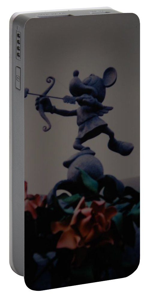 Micky Mouse Portable Battery Charger featuring the photograph Mickey Mouse by Rob Hans
