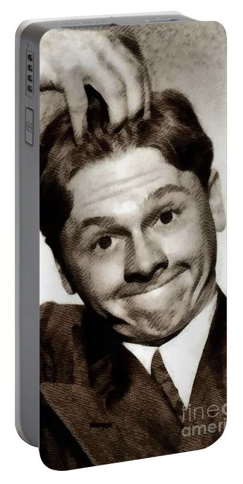 Mickey Portable Battery Charger featuring the painting Mickey Rooney, Vintage Actor by John Springfield