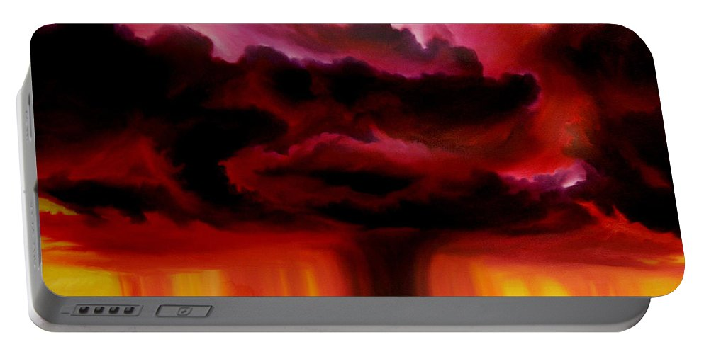 Skyscape Portable Battery Charger featuring the painting Microburst by James Christopher Hill