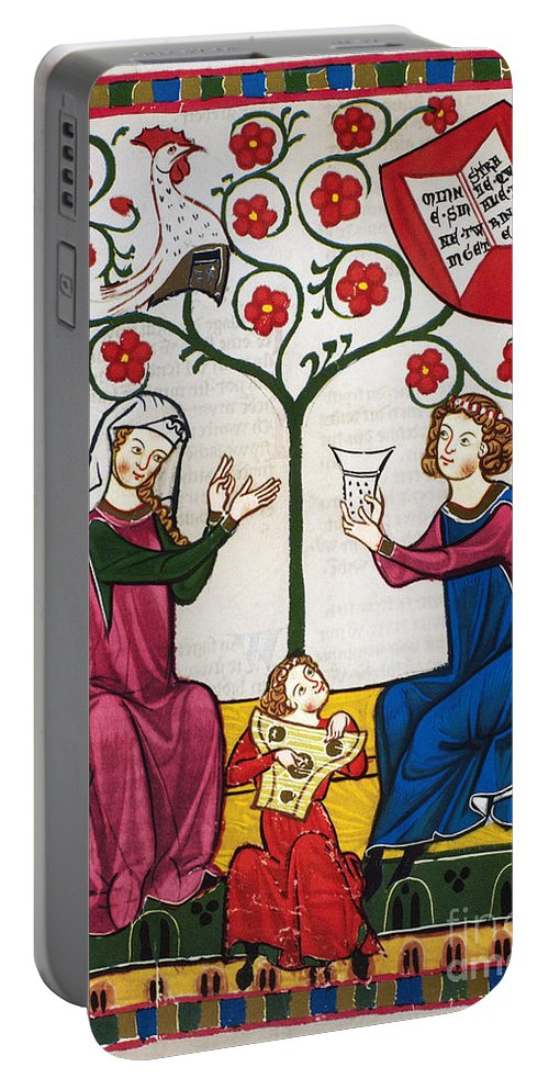 14th Century Portable Battery Charger featuring the photograph Minnesinger Lieder by Granger