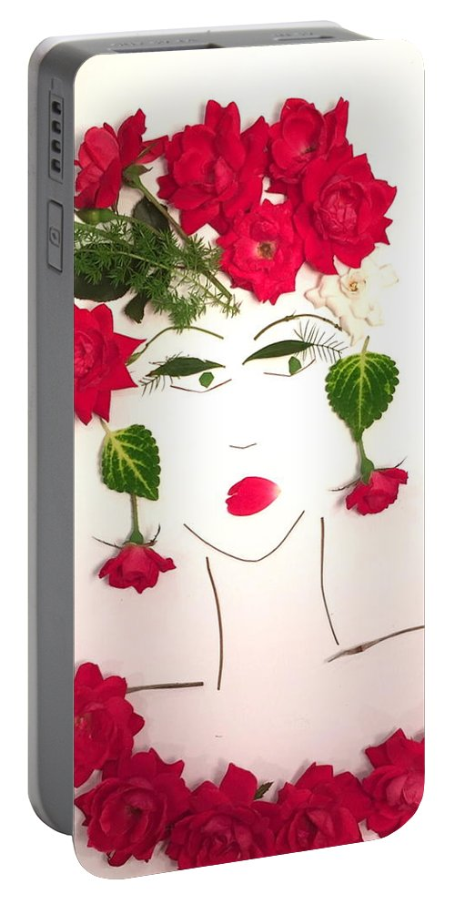 Flower Girl Portable Battery Charger featuring the photograph Ramblin' Rose by Glenda Grubbs