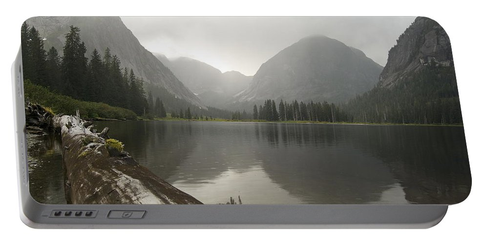 Alaska Portable Battery Charger featuring the photograph Misty Fjord 2 by Michael Peychich