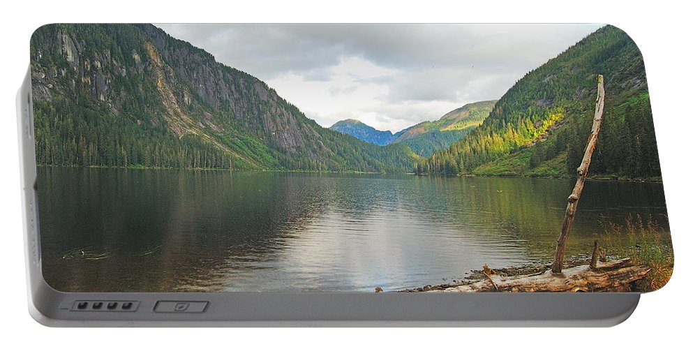 Alaska Portable Battery Charger featuring the photograph Misty Fjord by Michael Peychich
