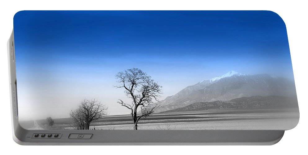 Misty Tree Portable Battery Charger featuring the photograph Misty Tree by Susanne Van Hulst