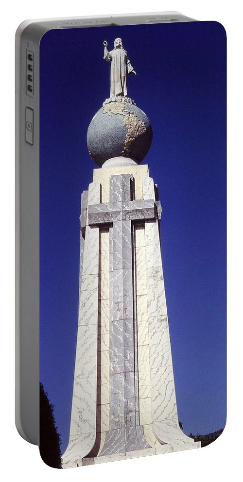 Central America Portable Battery Charger featuring the photograph Monumento Al Divino Salvador Del Mundo by Juergen Weiss