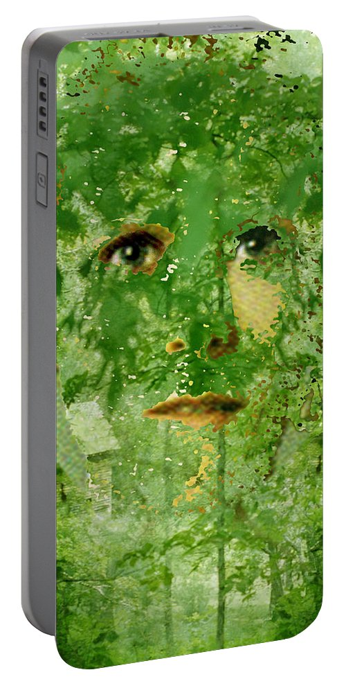 Lady Portable Battery Charger featuring the digital art Mother Nature by Seth Weaver