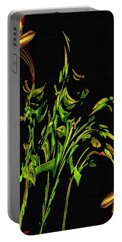 Asian Portable Battery Charger featuring the painting Motif Japonica No. 5 by RC DeWinter