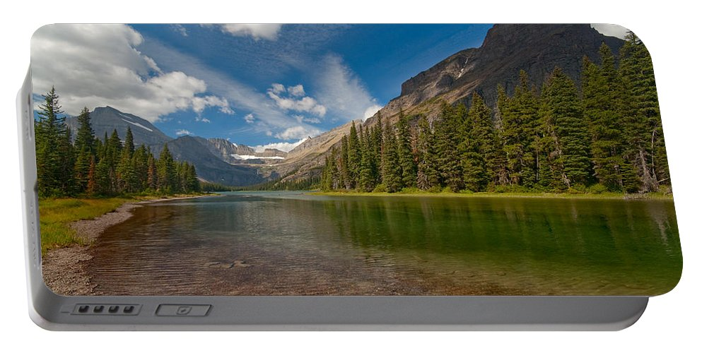 Nature Portable Battery Charger featuring the photograph Moutain Lake by Sebastian Musial