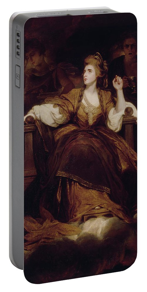 British Portable Battery Charger featuring the painting Mrs. Siddons As The Tragic Muse by Joshua Reynolds