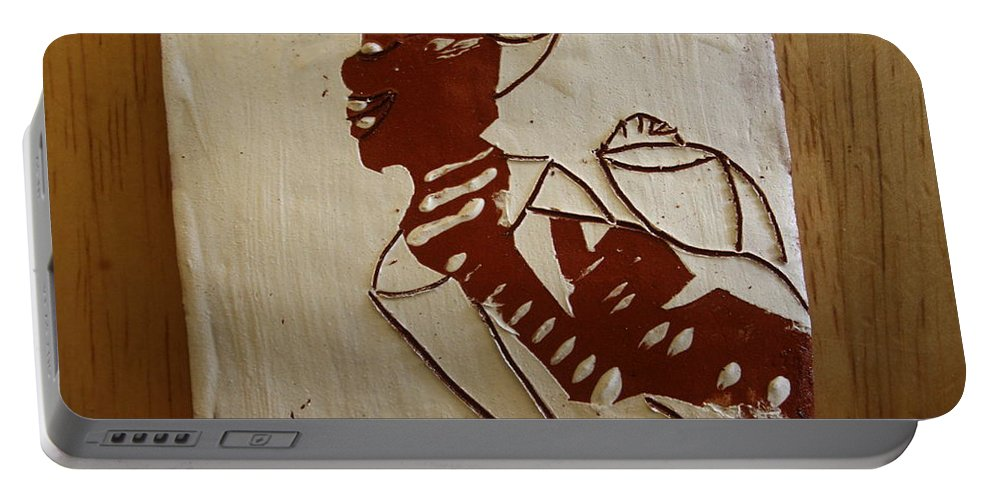 Jesus Portable Battery Charger featuring the ceramic art Mums Love - Tile by Gloria Ssali