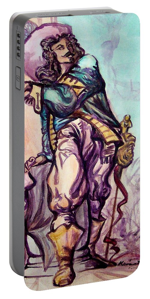 Musketeer Portable Battery Charger featuring the painting Musketeer by Kevin Middleton
