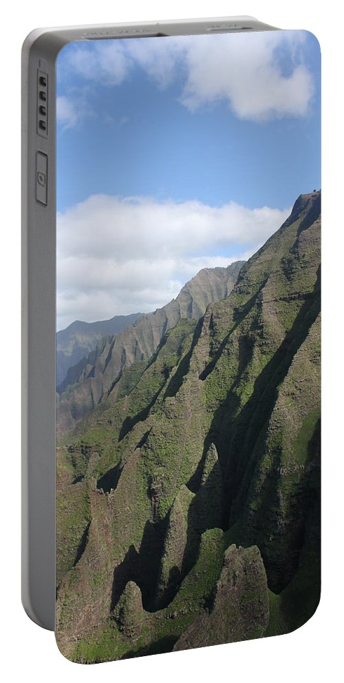 Napali Portable Battery Charger featuring the photograph Na Pali Coast by Lauri Novak