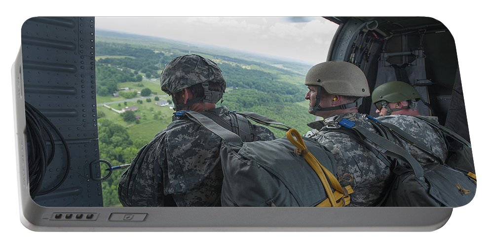 North Carolina National Guard Portable Battery Charger featuring the photograph National Guard Special Forces Await by Stocktrek Images