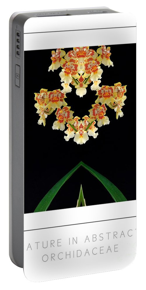Portable Battery Charger featuring the photograph Nature In Abstract Orchidaceae by Mike Nellums