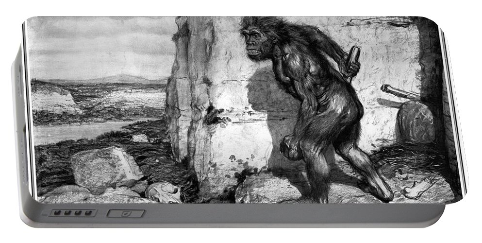 1909 Portable Battery Charger featuring the photograph Neanderthal Man by Granger