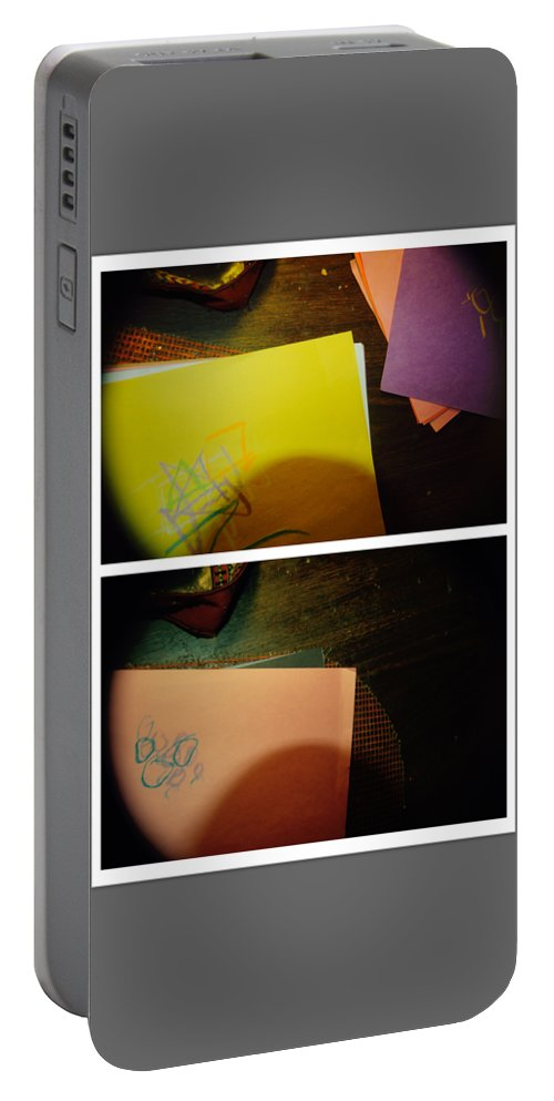 Abstract Portable Battery Charger featuring the photograph Never Would Have Made It Without Him by Alwyn Glasgow