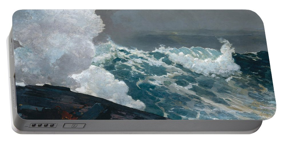 Northeaster Portable Battery Charger featuring the painting Northeaster, 1895 by Winslow Homer