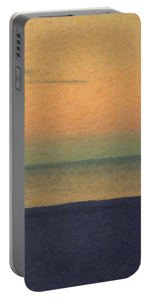 �not Quite Rothko� Collection By Serge Averbukh Portable Battery Charger featuring the photograph Not quite Rothko - Breezy Twilight by Serge Averbukh