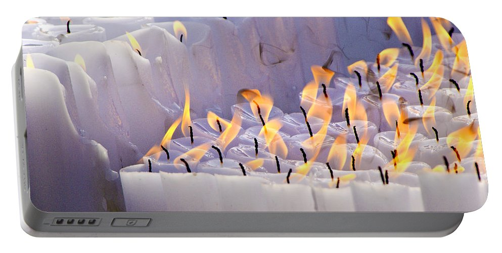 Candles Portable Battery Charger featuring the photograph Offering by Michele Burgess