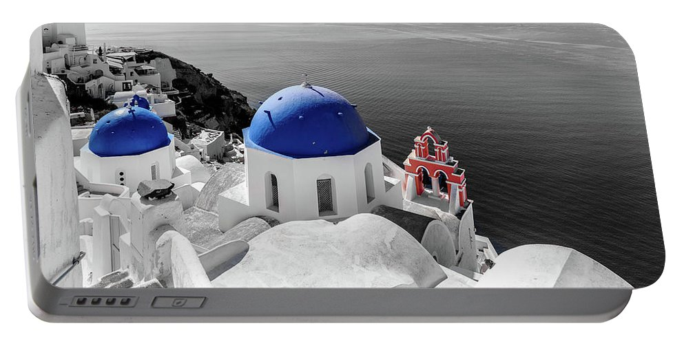 Oia Portable Battery Charger featuring the photograph Oia, Santorini / Greece by Stavros Argyropoulos