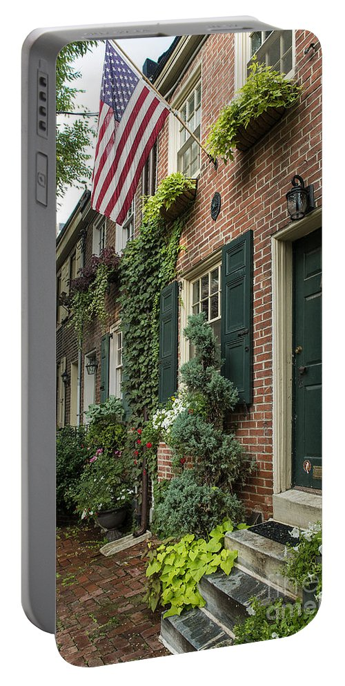 Americana Portable Battery Charger featuring the photograph Old City Philadelphia by John Greim