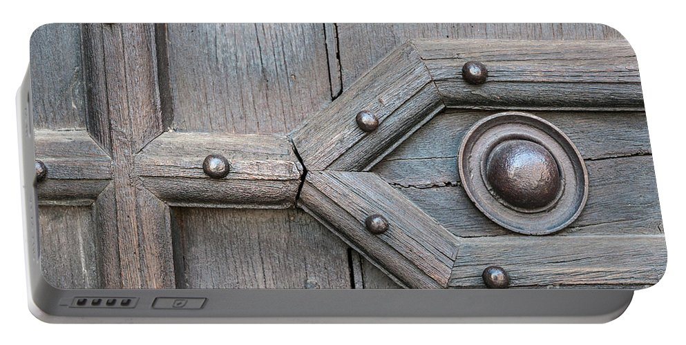 Door Portable Battery Charger featuring the photograph Old Door Detail 1 by Elena Elisseeva