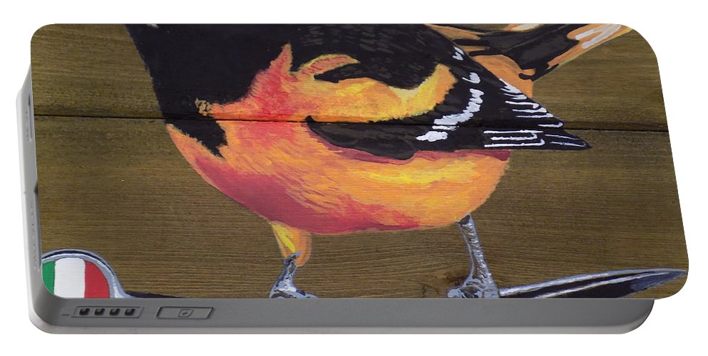 Baltimore Oriole Portable Battery Charger featuring the painting Oriole 2 by Paul Bashore