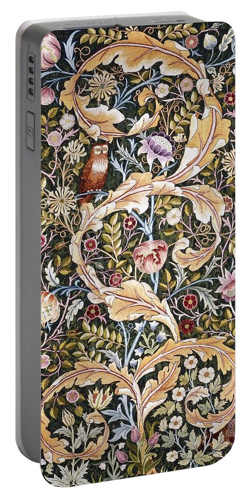 William Morris Portable Battery Charger featuring the painting Owl by William Morris