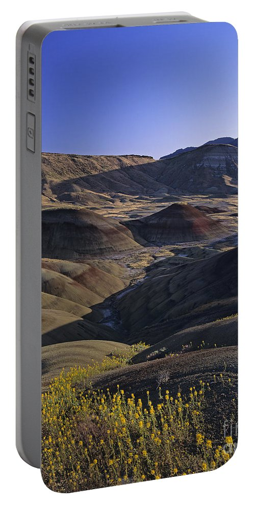Pacific Northwest Portable Battery Charger featuring the photograph Painted Hills by Jim Corwin