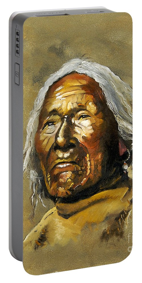 Southwest Art Portable Battery Charger featuring the painting Painted Sands Of Time by J W Baker