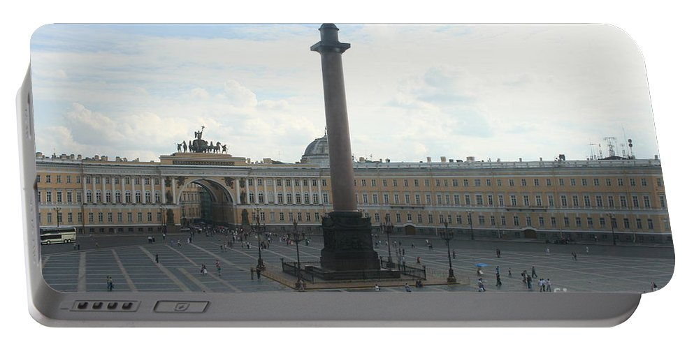 Palace Portable Battery Charger featuring the photograph Palace Place - St. Petersburg by Christiane Schulze Art And Photography