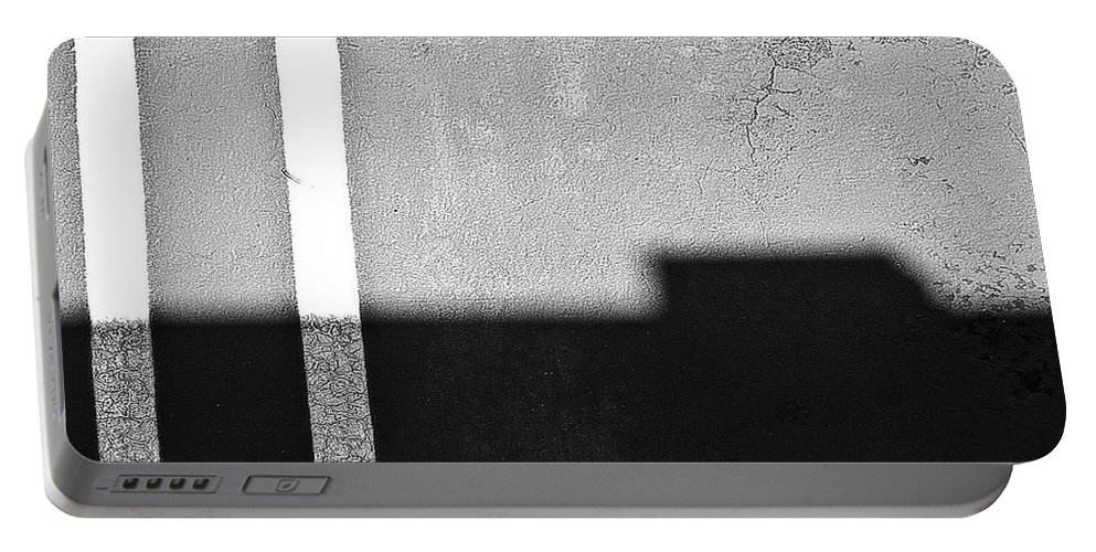 Abstract Portable Battery Charger featuring the photograph Parallel by Fei A
