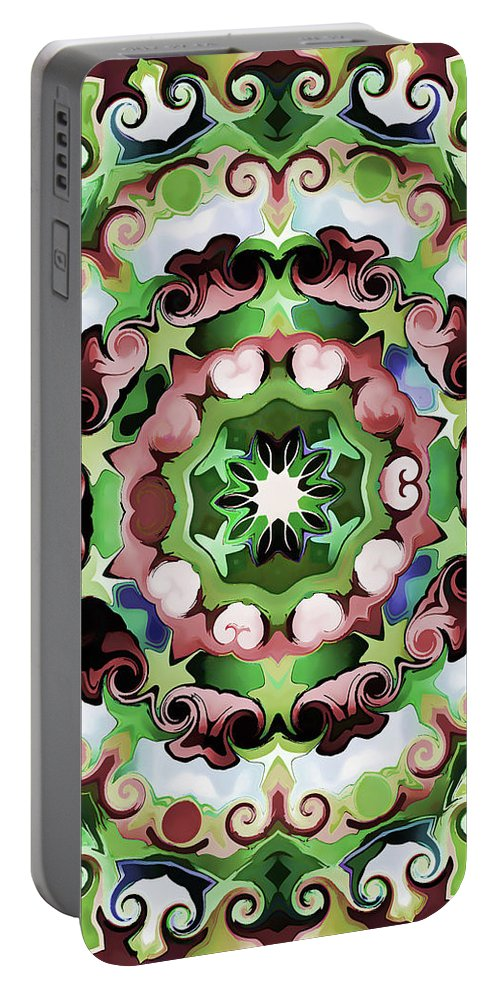 Mandala Art Portable Battery Charger featuring the painting Passion by Jeelan Clark