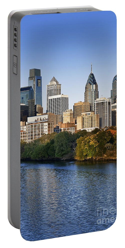 Pennsylvania Portable Battery Charger featuring the photograph Philadelphia Skyline by John Greim