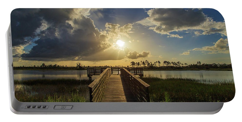 Florida Portable Battery Charger featuring the photograph Pine Glades Sunset by Stefan Mazzola