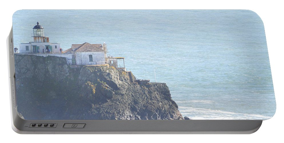 Light House Portable Battery Charger featuring the photograph Point Bonita Light House by Miranda Strapason