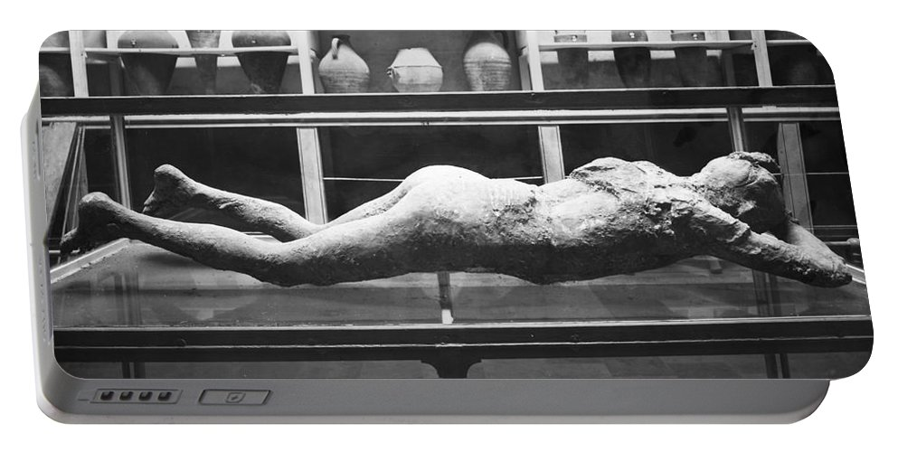 1873 Portable Battery Charger featuring the photograph Pompeii: Plaster Cast by Granger