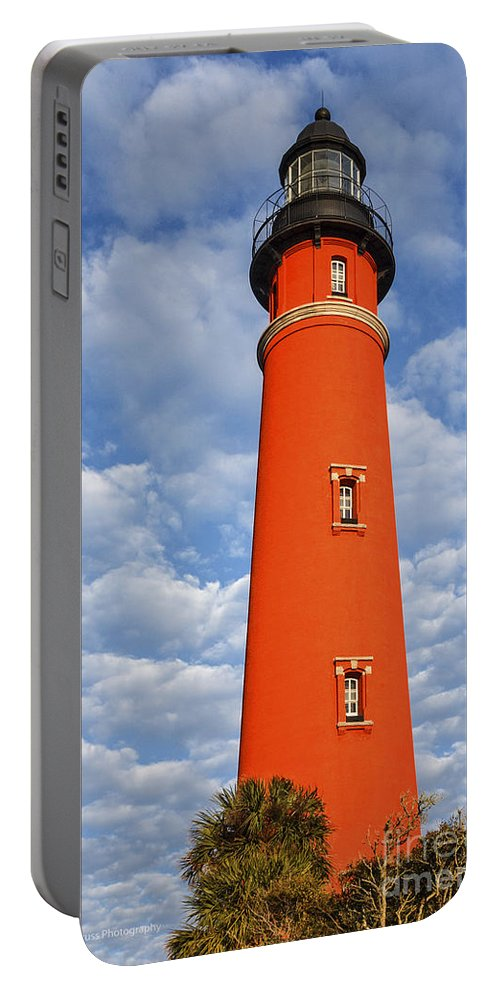 Ponce Lighthouse Portable Battery Charger featuring the photograph Ponce Lighthouse by Maria Struss