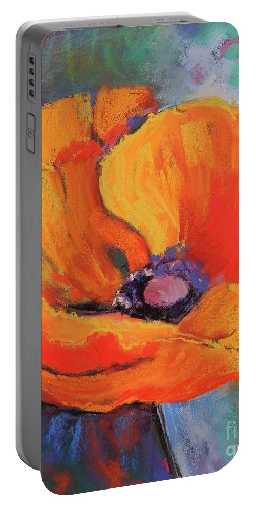 Poppy Portable Battery Charger featuring the painting Poppy by Melinda Etzold