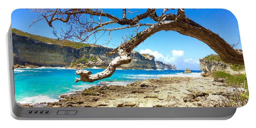 Guadeloupe Portable Battery Charger featuring the photograph Porte D Enfer, Guadeloupe by Cristina Stefan