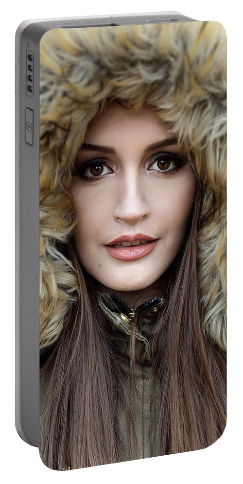 Portrait Portable Battery Charger featuring the photograph Portrait Of A Beautiful Woman by Jelena Vlatkovic