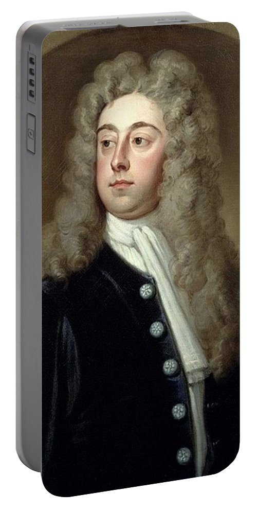 Wig Portable Battery Charger featuring the digital art Portrait Of Francis 2nd Earl Of Godolphin 1678-1766 Sir Godfrey Kneller by Eloisa Mannion