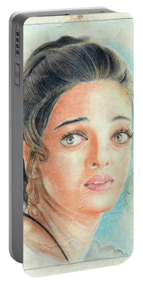 Vikas Rai Portable Battery Charger featuring the drawing Portrait by Vikas Rai