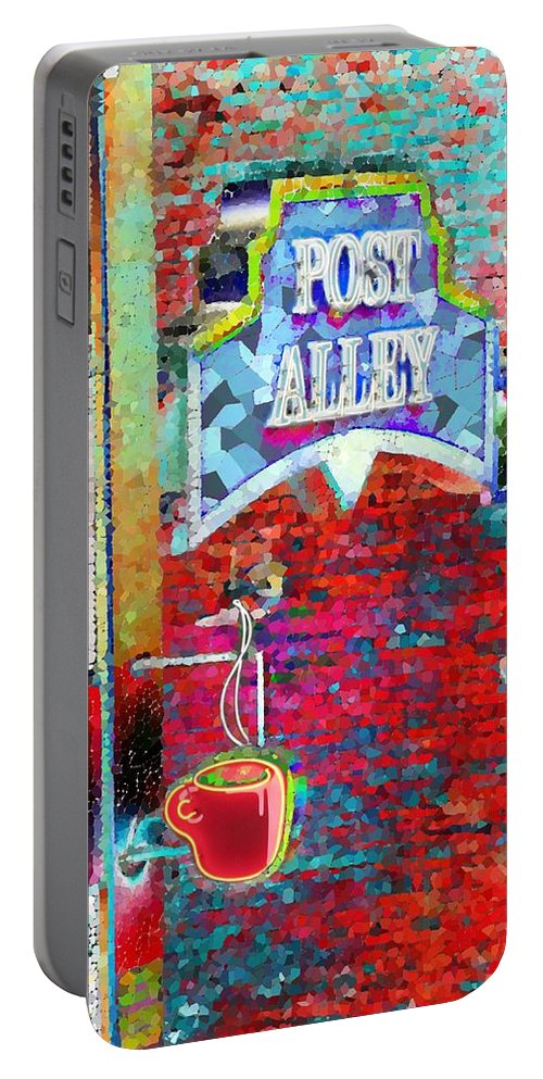 Seattle Portable Battery Charger featuring the photograph Post Alley by Tim Allen