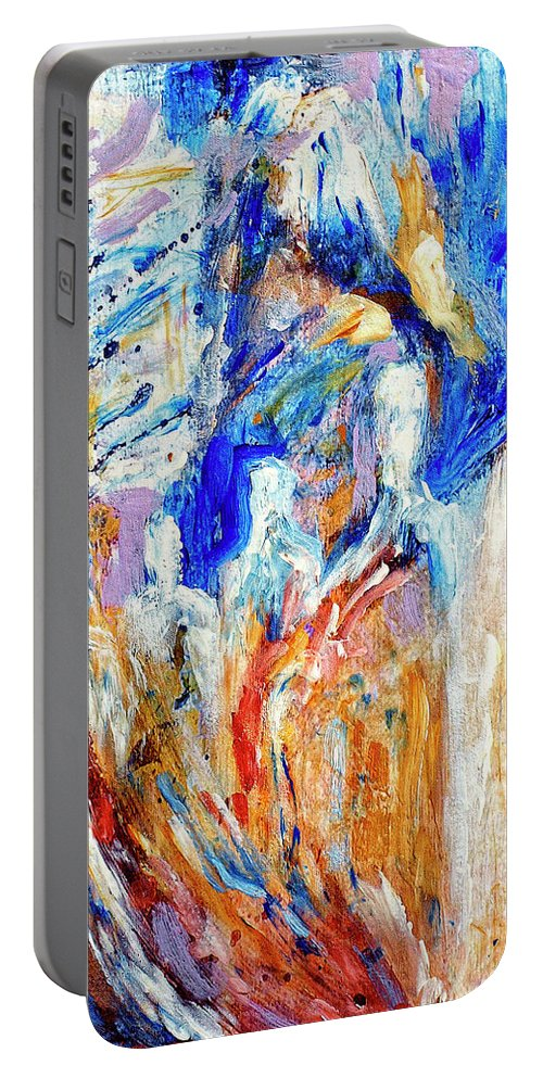 Procession Portable Battery Charger featuring the painting Procession by Dominic Piperata