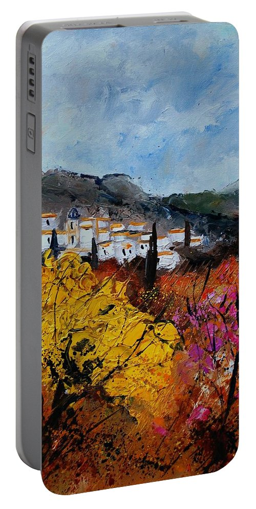 Provence Portable Battery Charger featuring the painting Provence by Pol Ledent