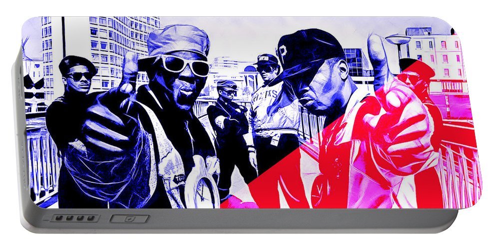Public Enemy Portable Battery Charger featuring the mixed media Public Enemy Collection by Marvin Blaine